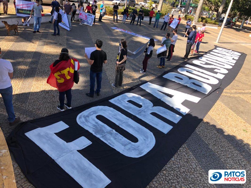 Manifestação contra Bolsonaro em Patos de Minas - sábado (3 de julho de 2021)