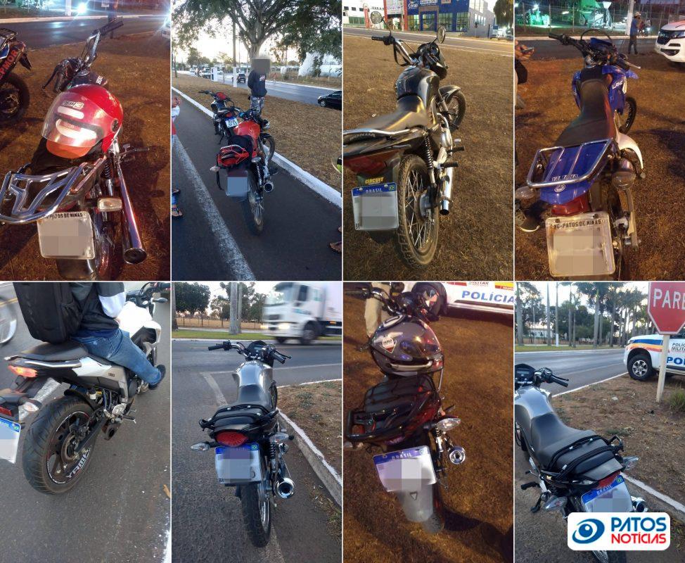 Motos autuadas descarga livre Patos de Minas