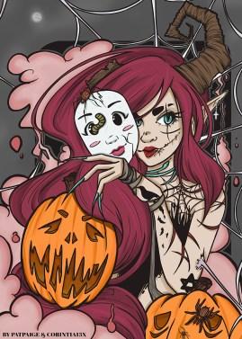 Collab Corintia and PatPaige Halloween 2017