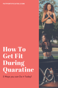How to get fit during quarantine: pinnable image