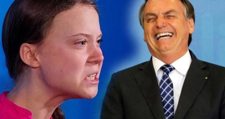 "Bolsonaro detona e chama ativista de ""pirralha"""