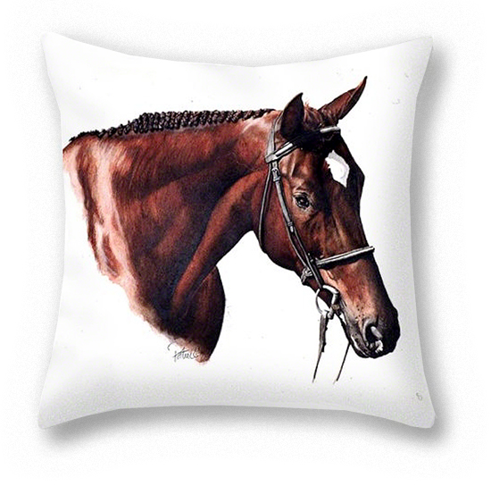 Dave's Horse Pillow ~ Art by Patrice