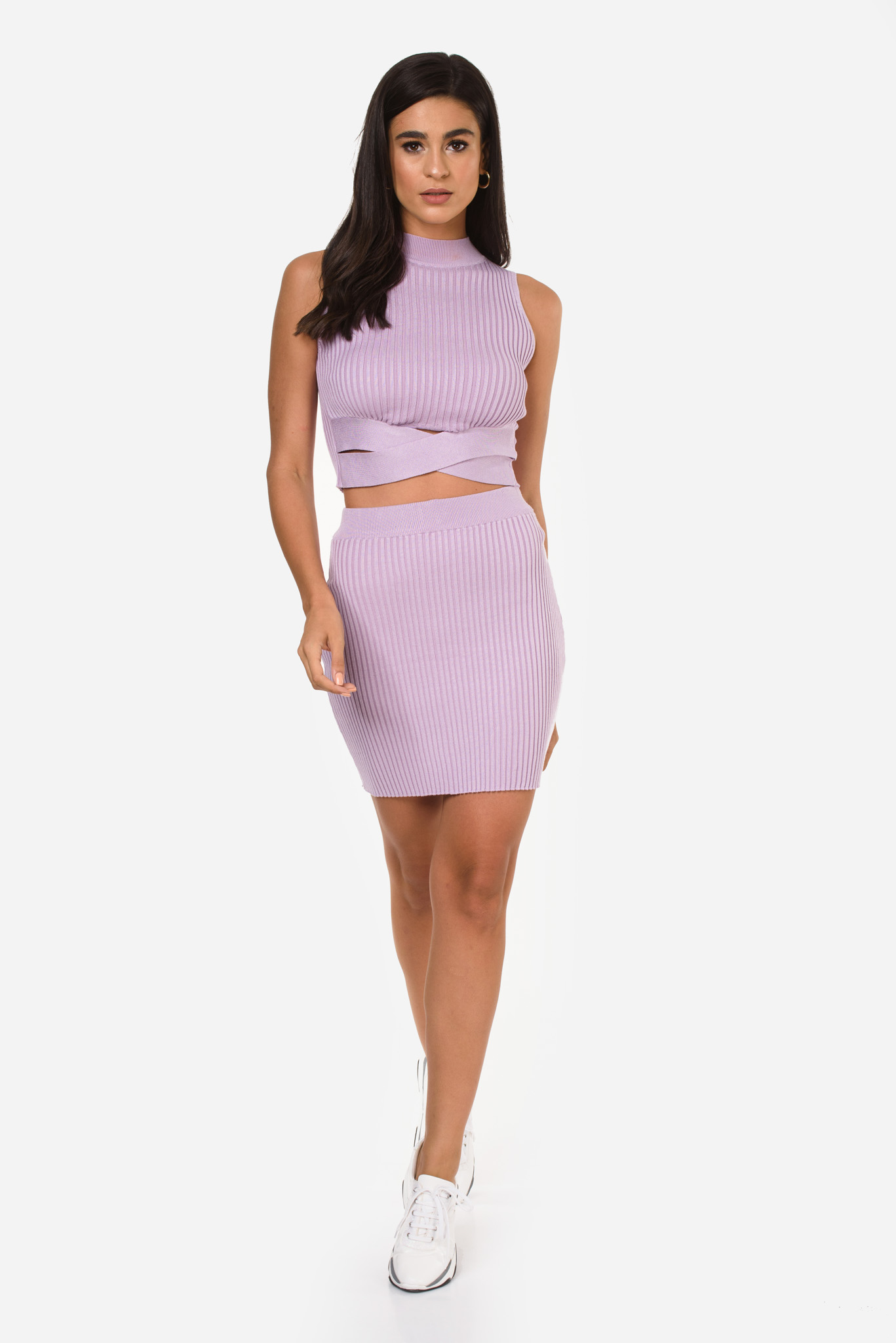 Stephanie Knit Set in Lilac