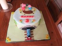 Peppa & Thomas cake