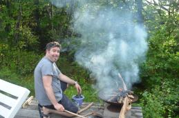 There's Louis the Canadian stoking the fire!