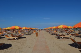 On the beach at Rimini