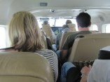 Here's the view in the cabin of the plane. The pilot's name was Jack.