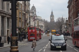 Heading towards Big Ben.