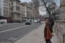 Walking down Whitehall Road.