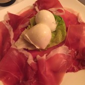 Delicious prosciutto and burrata