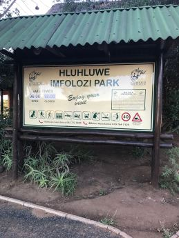 Imfolozi was a small game park so we really got to know the animals.