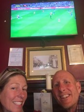 Watching Arsenal v Chelsea in a south ken pub.