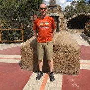 John at the equator.