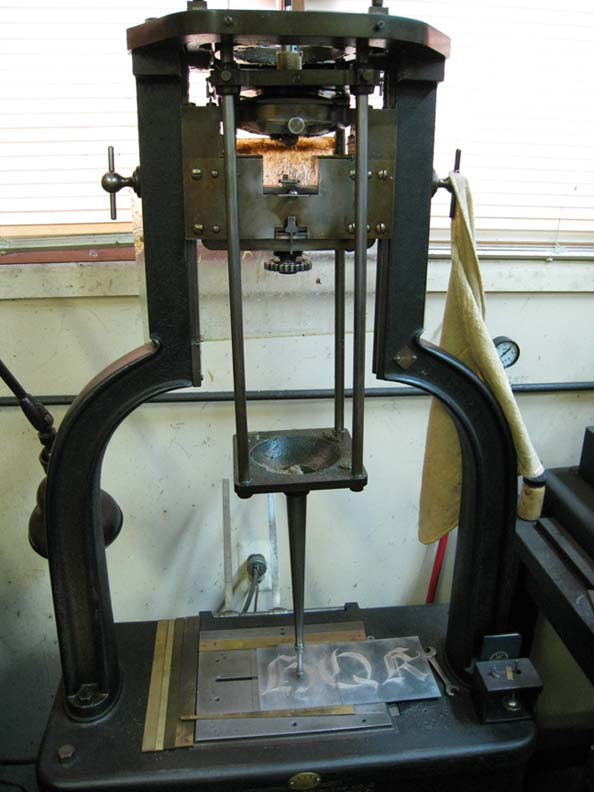 The famous Benton matrix engraving machine.