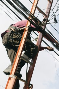 electrician on ladder 1 - electrician-on-ladder