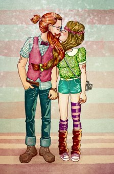 Hipster Kiss