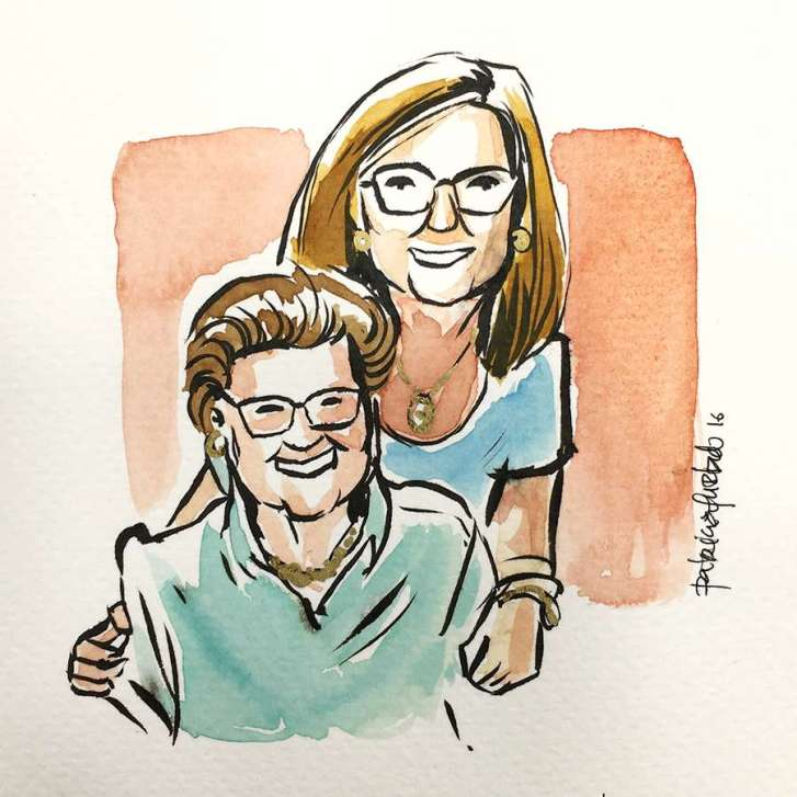 Watercolour quick portrait