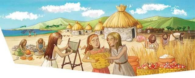 History textbook illustration