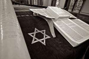 Star of David and Bible