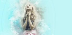 woman in deep prayer