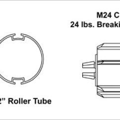 M16 Exploded Diagram 3 Pin Electronic Flasher Relay Wiring Patrician Window Coverings M Series Standard Clutch Manual Roller