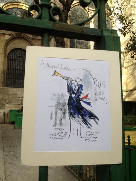 paris Église de Saint-Germain-des-Prés marseillaise paris vous aime paris je t'aime