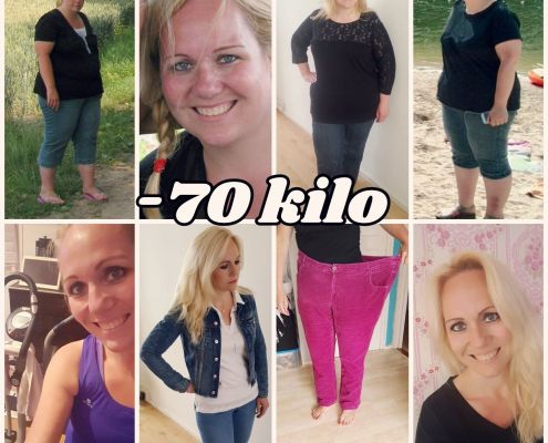 Proces van 70 kilo afvallen