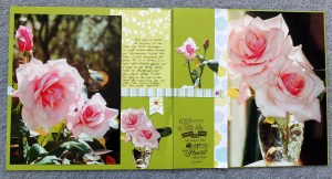 Gorgeous double page roses layout