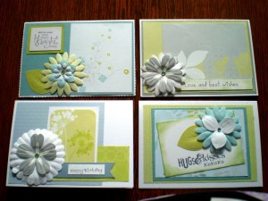 I have used CM Reflections Storybox Papers and Flowers with some accents from Divine Flowers.  I have used my Storybook Creator 4.0 to create the Greetings.