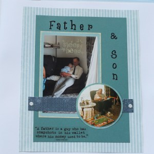Father and son layout