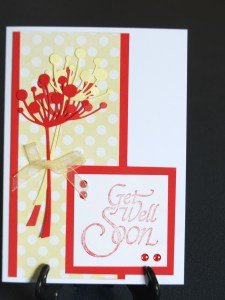 Get well card - love this combination of yellow and red