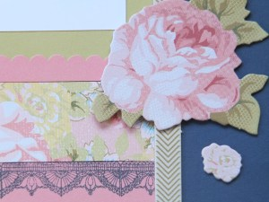 CTMH - close up of embellishments and stamping detail