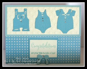 CTMH Baby blue card