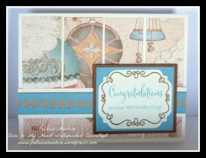 CTMH Balloon Ride Baby Card