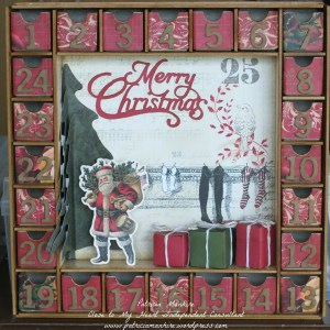 Advent Calendar featuring Kaisercraft and CTMH papers.