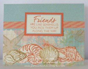 CTMH Seaside seashells card