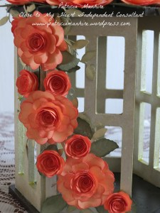 #CTMH Cricut Flowers on Kaisercraft T Lite holder
