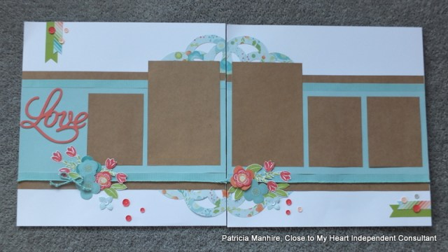 #CTMH Blossoom Layout with Shower Flowers