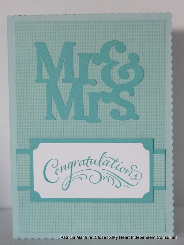 #CTMH Artfully Sent Wedding card