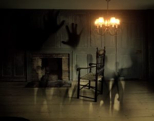 Spooky interior of a house.