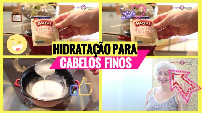 Hidratac  A  O PARA CABELOS FINOS - Hidratação Para Cabelos Finos Para Engrossar Os Fios