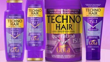 patricinha esperta1 - Testei - Techno Hair Gota Dourada