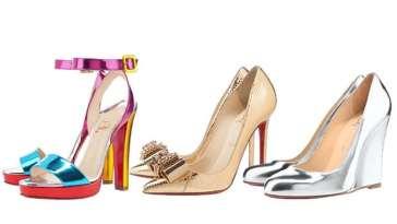 moda christian louboutin sapatos metalizados - Os sapatos do inverno 2012