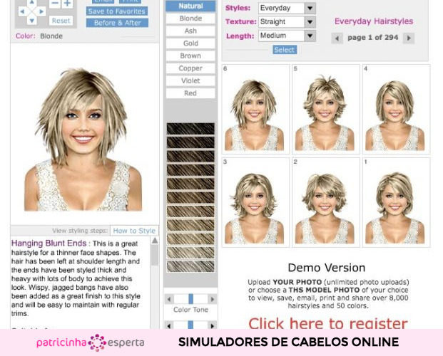 Simulador de cabelo Hairfinder 621x500 - Simulador de Cabelo: Corte e Cor