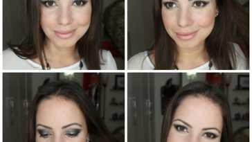 esfumado glam nyx - Tutorial: Maquiagem Glam! Esfumado com Brilho Metalizado