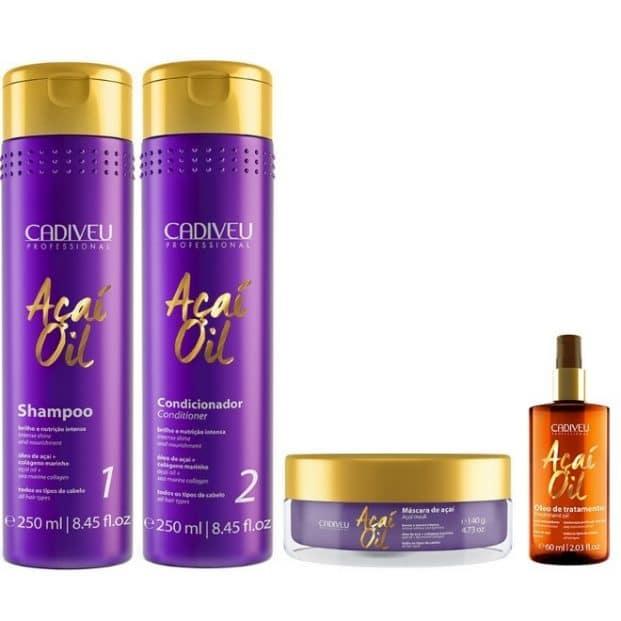 Cadiveu Acai Oil Full Kit 4 Produtos  621x621 - Mega Hair no Cabelo Loiro - Cuidados