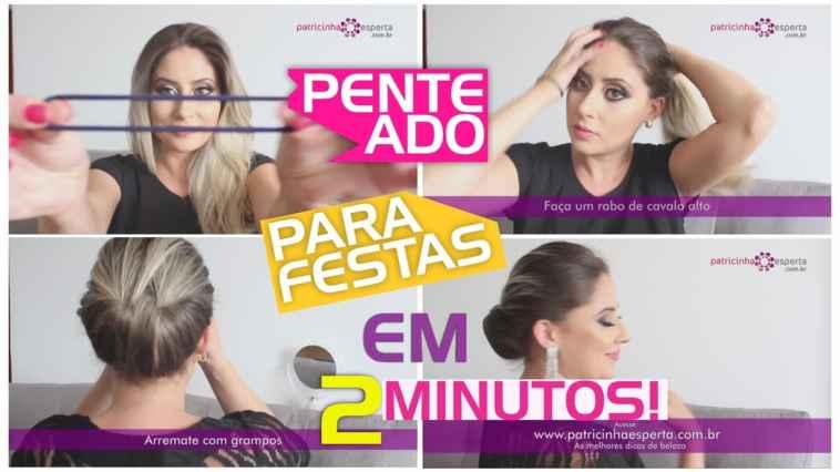 6u00ba Miniatura - Penteado para festas em 2 minutos!