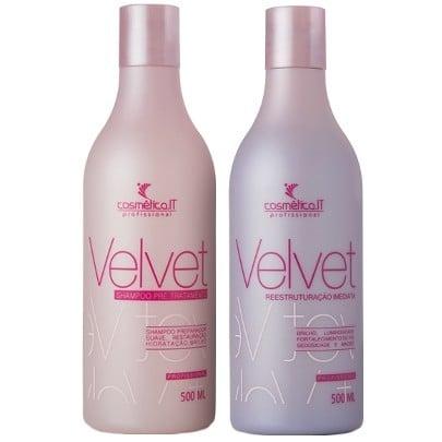 Cosmetica IT Velvet Duo Kit Shampoo Preparador 500ml e Reconstrutor 500ml  - Velvet Desemborrachador Cosmética IT