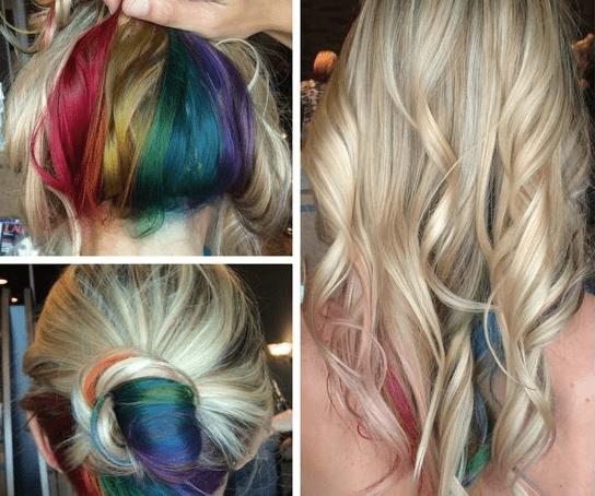 pinterest emilee - UnderLayer – Como fazer cabelo colorido na nuca?