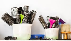 Professional hairdressing tools.